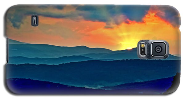 Blue Ridge Mountains Sunset Galaxy S5 Case