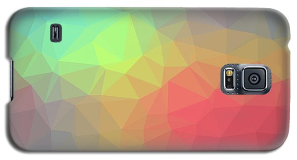 Gradient Background With Mosaic Shape Of Triangular And Square C Galaxy S5 Case