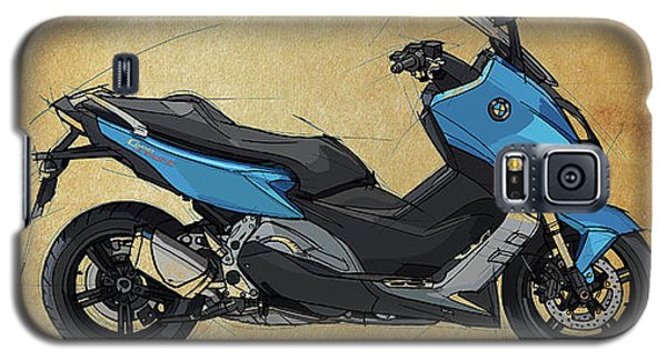 Sport Art Galaxy S5 Case - 2014 Bmw C600 Sport, Original Artwork. Motorcycle Quote by Drawspots Illustrations