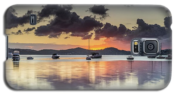 Overcast Morning On The Bay With Boats Galaxy S5 Case