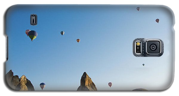 Colorful Balloons Flying Over Mountains And With Blue Sky Galaxy S5 Case