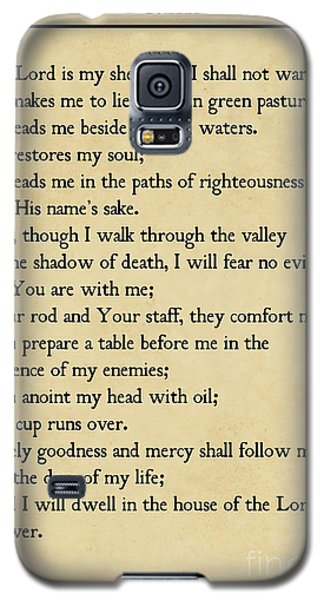 Psalm 23-bible Verse Wall Art Collection Galaxy S5 Case