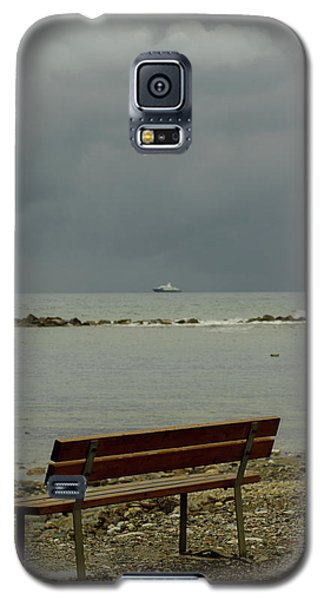 A Bench On Which To Expect, By The Sea Galaxy S5 Case