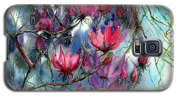 Magnolia Galaxy S5 Case - A Blooming Magnolia by Suzann Sines