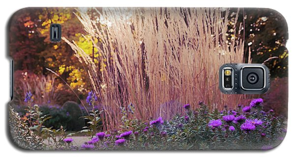 A Flower Bed In The Autumn Park Galaxy S5 Case