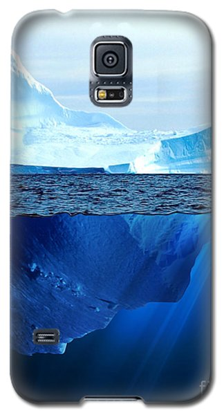 Icy Galaxy S5 Case - A Large Iceberg In The Cold Blue Cold by Sergey Nivens