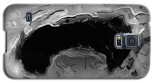 Galaxy S5 Case featuring the digital art A Lifeless Planet Black by ISAW Company