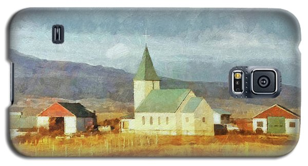 Galaxy S5 Case featuring the digital art A Lone Church On The Open Road In The Snaefellsnes Peninsula by Digital Photographic Arts