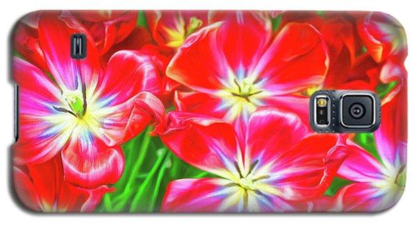 A Sea Of Brilliant Red Tulips Galaxy S5 Case