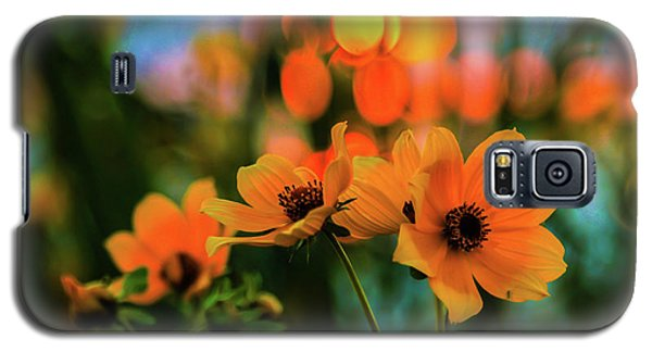 Sunflower Bokeh Sunset Galaxy S5 Case