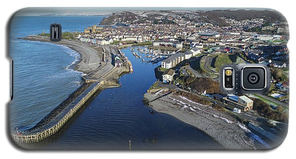 Aberystwyth Harbour From The Air In Winter Galaxy S5 Case