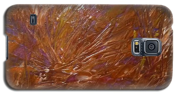 Abstract Brown Feathers Galaxy S5 Case