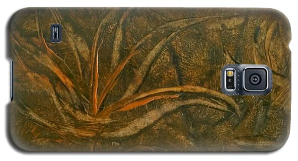 Abstract Brown/orange Floral In Encaustic Galaxy S5 Case
