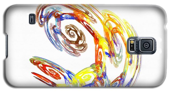 Abstract Crab Yellow Galaxy S5 Case