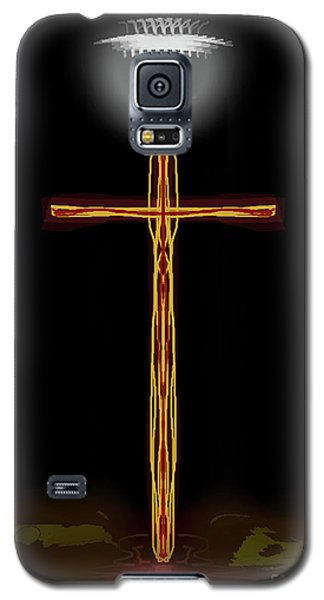 Abstract Cross With Halo Galaxy S5 Case