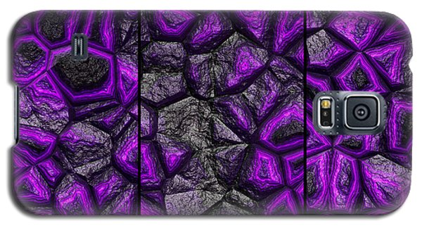 Abstract Deep Purple Stone Triptych Galaxy S5 Case