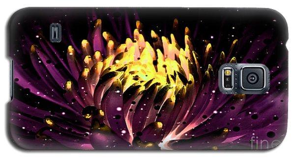 Abstract Digital Dahlia Floral Cosmos 891 Galaxy S5 Case