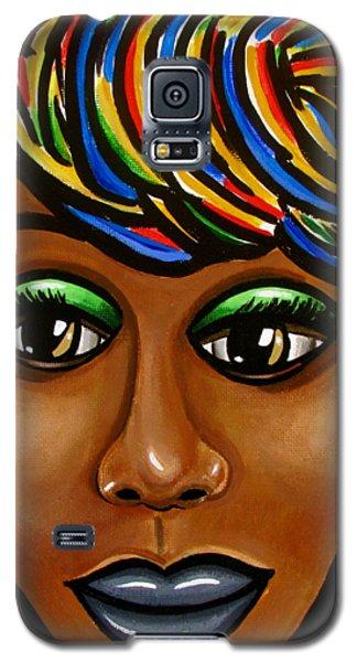 Abstract Art Black Woman Retro Pop Art Painting- Ai P. Nilson Galaxy S5 Case
