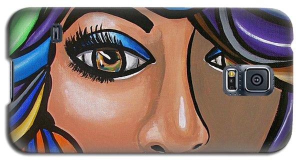 Abstract Woman Artwork Abstract Female Painting Colorful Hair Salon Art - Ai P. Nilson Galaxy S5 Case