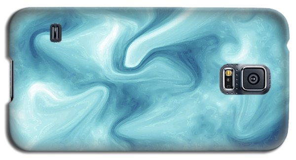 Abstract Navy Blue Liquid Galaxy S5 Case