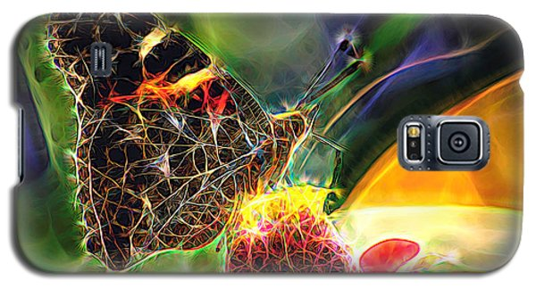 Abstract Painted Lady Butterfly Galaxy S5 Case