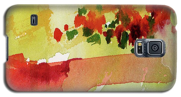 Abstract Red Poppies Panorama Galaxy S5 Case