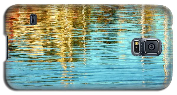 Abstract Reflections In Camden Harbor Maine Galaxy S5 Case