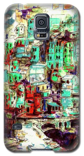 Abstract Riomaggiore Cinque Terre Art Galaxy S5 Case