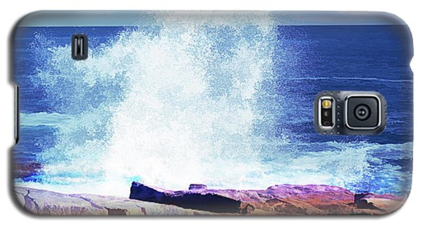 Crashing Waves At Schoodic Point Abstract Galaxy S5 Case