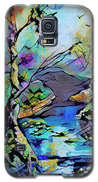 Abstract Wetland Trees And River Galaxy S5 Case