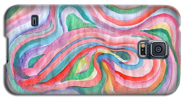 Abstraction In Spring Colors Galaxy S5 Case