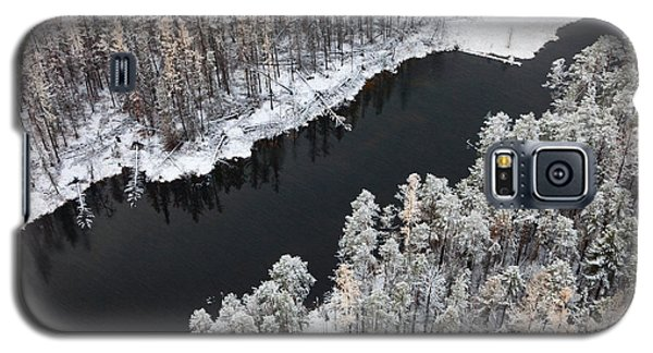 Cold Galaxy S5 Case - Aerial View Of Forest River In Cold by Vladimir Melnikov