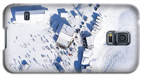 Cold Galaxy S5 Case - Aerial View Of Ski Resort Falakro, In by Ververidis Vasilis