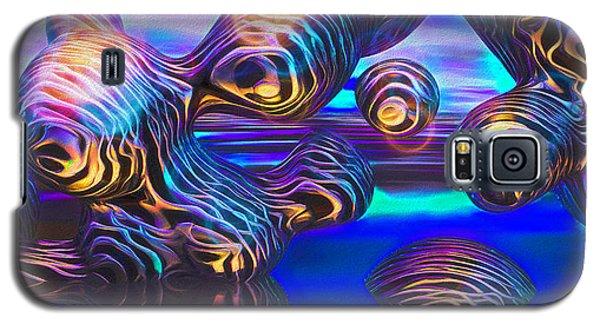 Alien Biometal Blue Galaxy S5 Case