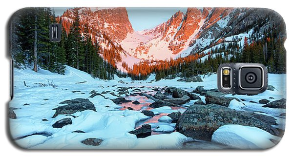 Alpenglow At Dream Lake Rocky Mountain National Park Galaxy S5 Case