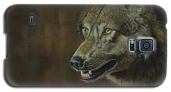 Alpha Male ......the Gray Wolf Galaxy S5 Case