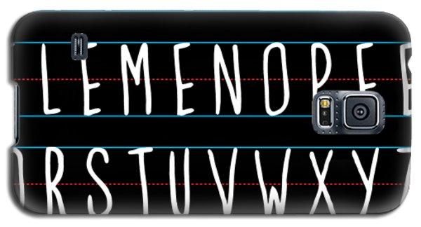 Alphabet Elemeno Galaxy S5 Case