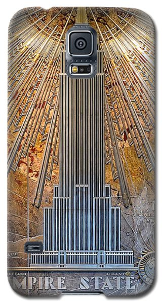 Aluminum Relief Inside The Empire State Building - New York Galaxy S5 Case