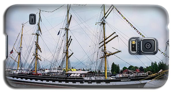 An Exit Sailboat Krusenstern On Parade Galaxy S5 Case