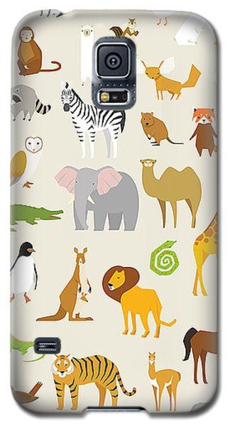 Otter Galaxy S5 Case - Animal Set Vector Illustration Wildlife by Miniwide