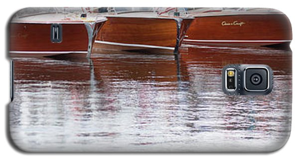 Antique Classic Wooden Boats In A Row Panorama 81112p Galaxy S5 Case