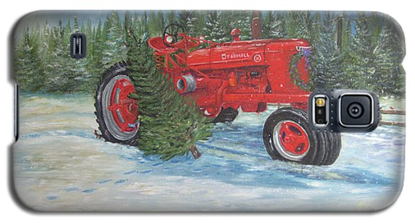 Antique Tractor At The Christmas Tree Farm Galaxy S5 Case
