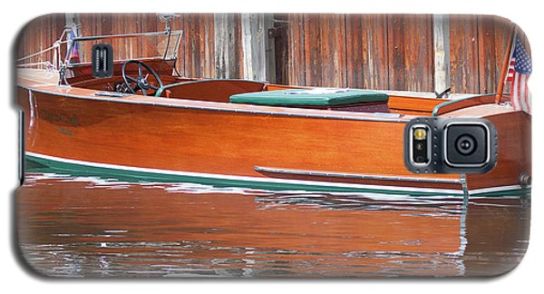 Antique Wooden Boat By Dock 1302 Galaxy S5 Case