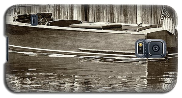 Antique Wooden Boat By Dock Sepia Tone 1302tn Galaxy S5 Case