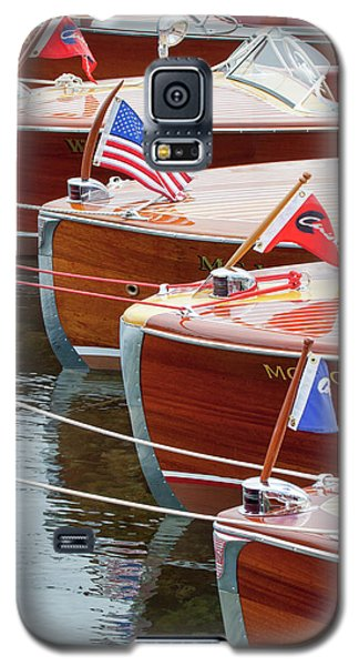 Antique Wooden Boats In A Row Portrait 1301 Galaxy S5 Case