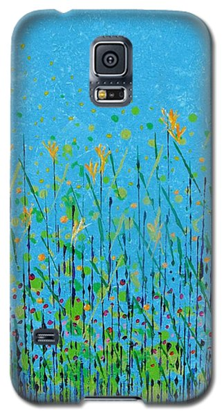 Galaxy S5 Case featuring the painting April by Corinne Carroll