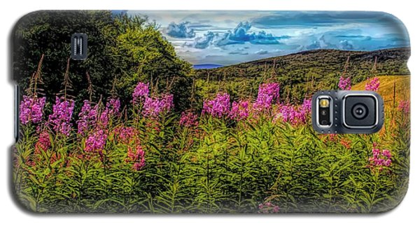 Art Photo Of Vermont Rolling Hills With Pink Flowers In The Fore Galaxy S5 Case