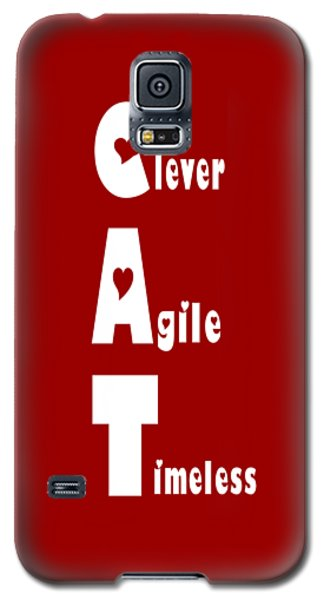 Cat With White Words Galaxy S5 Case