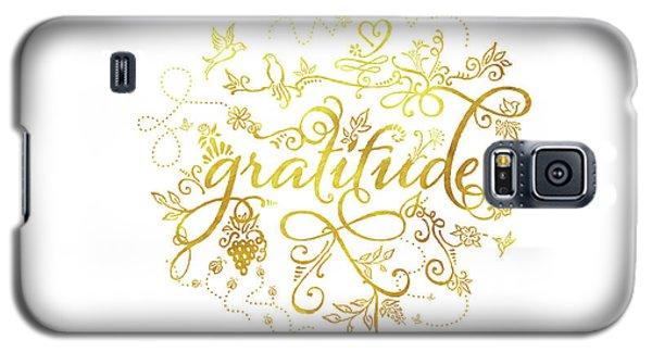 Golden Gratitude Galaxy S5 Case