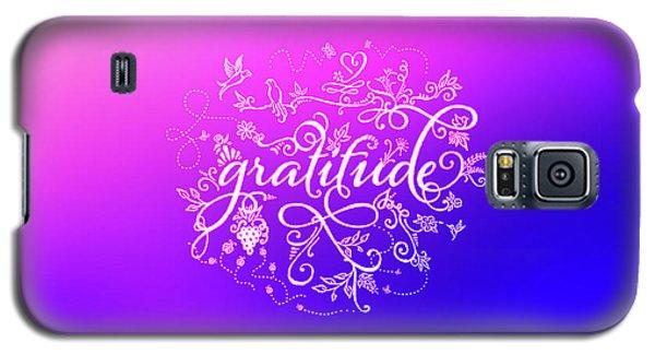 Purply Pink Gratitude Galaxy S5 Case